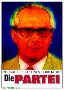 Plakat Partei Honecker