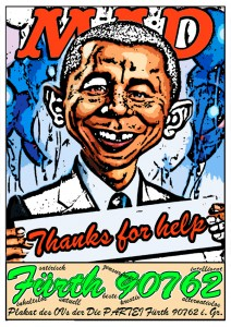 Plakat Partei 90762 MAD Obama