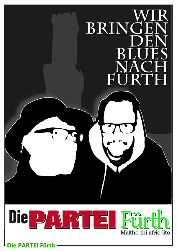 Plakat Partei Bürger Fürth Blues Poster Kopie