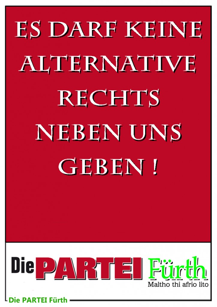 Plakat Partei AfD Alternative rechts 800 Poster